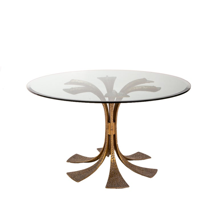 Italian Bronze Modernist Dining Table by Frigerio