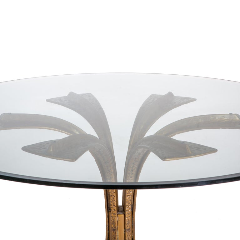 Bronze Modernist Dining Table by Frigerio In Good Condition In New York, NY