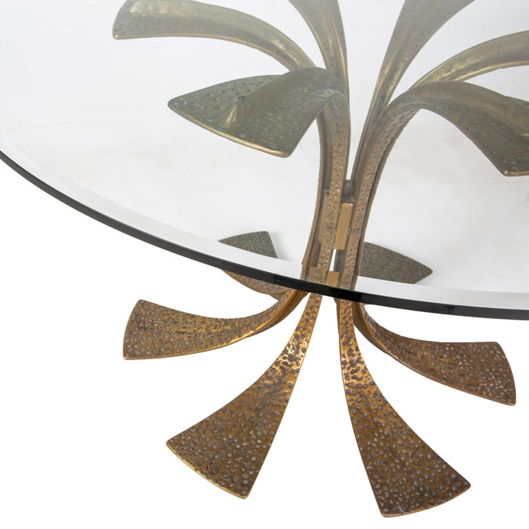 Bronze Modernist Dining Table by Frigerio 2
