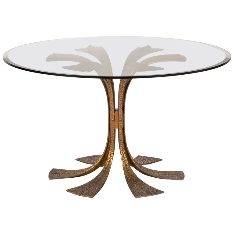 Bronze Modernist Dining Table by Frigerio