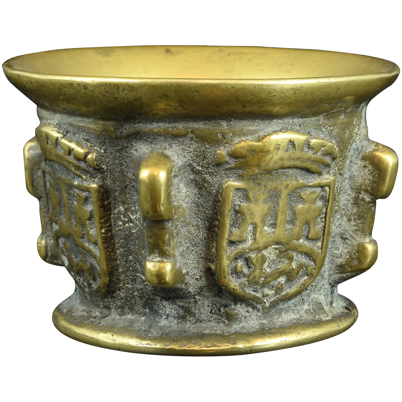 Bronze Mortar with Heraldry, 17th Century