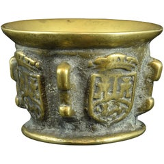 Bronze Mortar with Heraldry, 17th Century