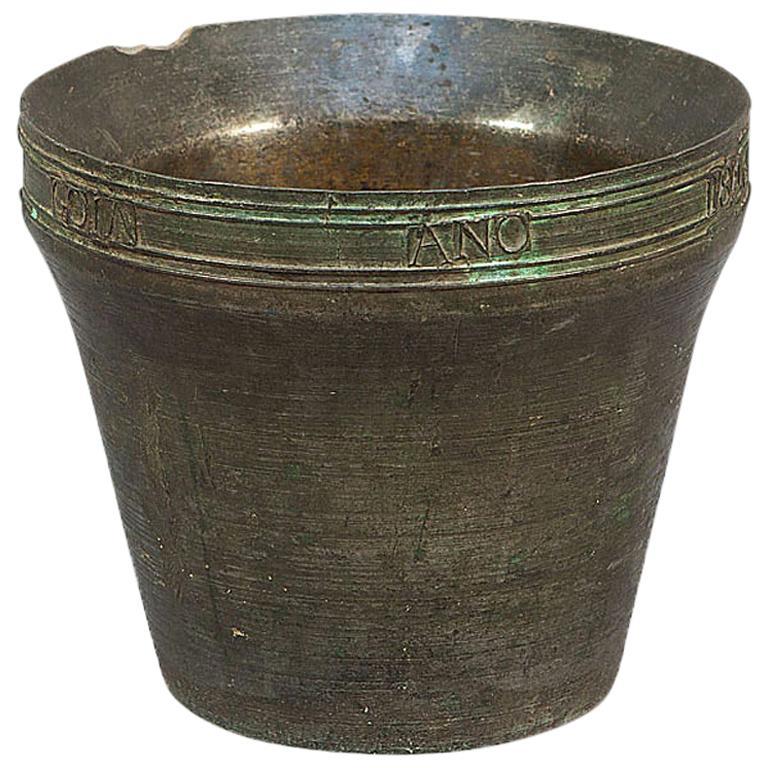 Bronze Mortar with Inscription, Spain, 1846
