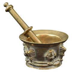 Bronze Mortar with Pestle, 17th Century