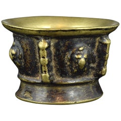 Bronze Mortar with Ribs Decoration, 17th Century