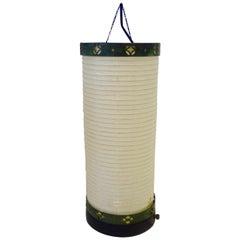 Bronze Mounted Japanese Paper Lantern Table Lamp