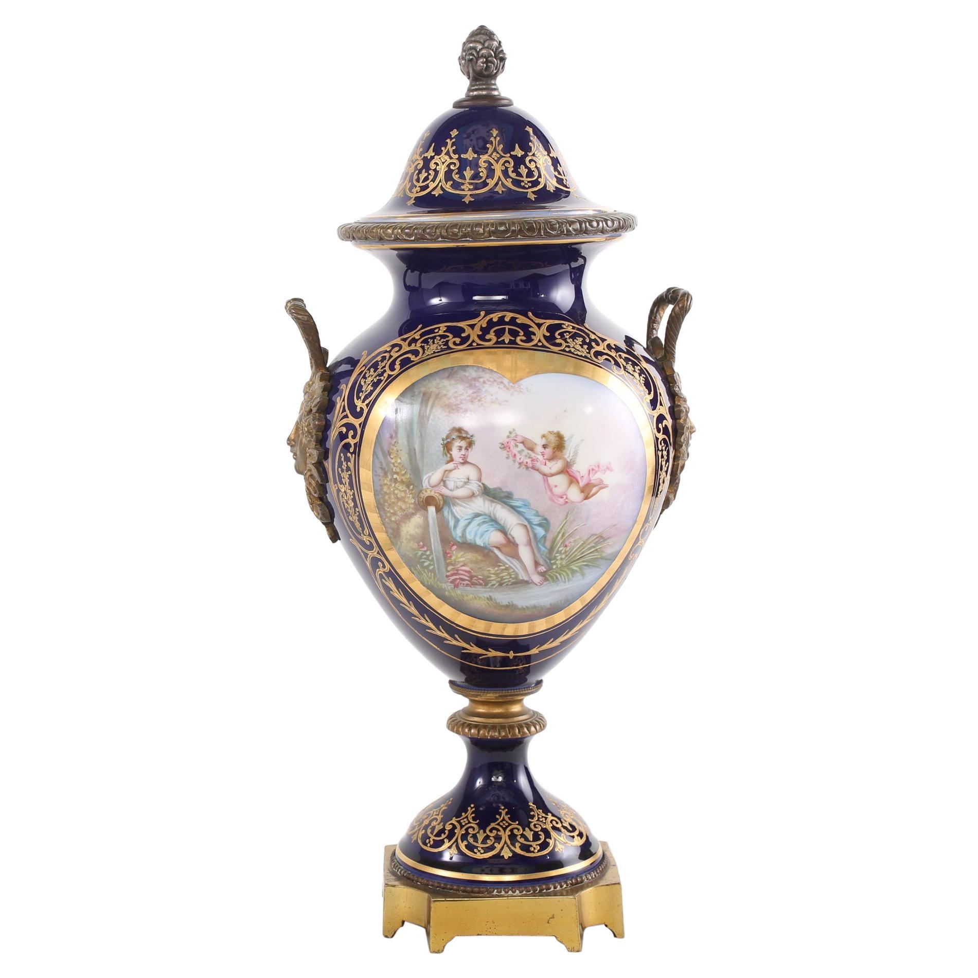 Bronze Mounted / Sèvres Porcelain Covered Urn