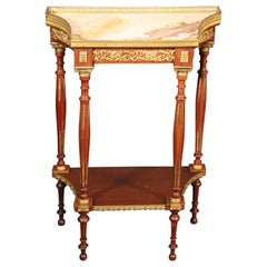 Bronze Mounted Translucent Onyx Top French Louis XVI Plantstand End Table
