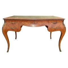 Bronze Mounted Tulipwood Louis XV Desk