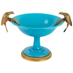 Bronze Mounted Turquoise Blue Opaline Cup