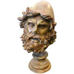 Bronze Neoclassical Italian Ulysses Statue, circa 1950