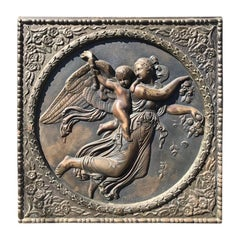 Bronze Neoclassical Relief of Day by Bertel Thorvaldsen
