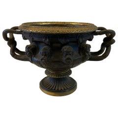 Bronze Neoclassical Warwick Vase Urn