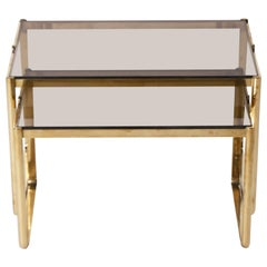 Bronze Nesting Table by Jacques Quinet, circa 1960