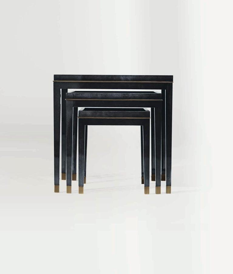 Italian Bronze Nesting Table XX For Sale