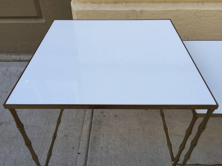Bronze Nesting Tables by Maison Baguès In Good Condition For Sale In New York, NY