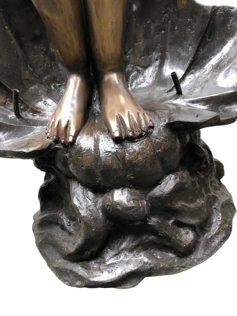 Monumental Mermaid on Wall Fountain - World of Bronze