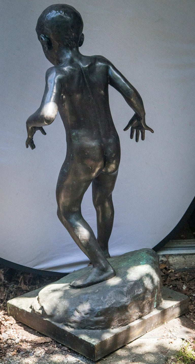 Bronze of a Nude Boy For Sale 1