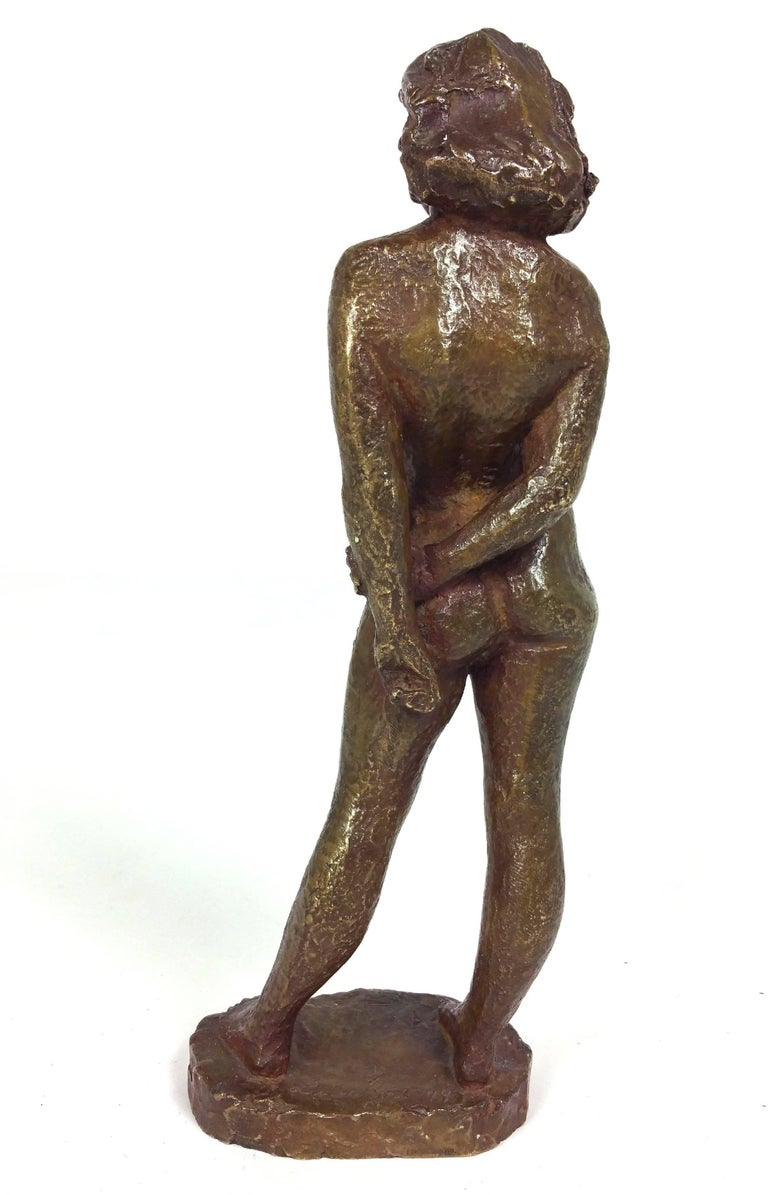 20th Century Bronze of a Standing Nude by Einar Luterkort For Sale