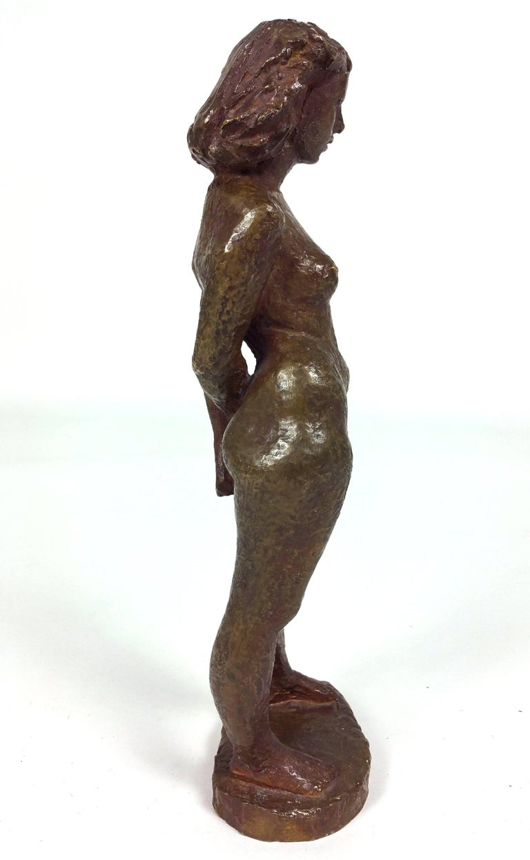 Bronze of a Standing Nude by Einar Luterkort For Sale 2