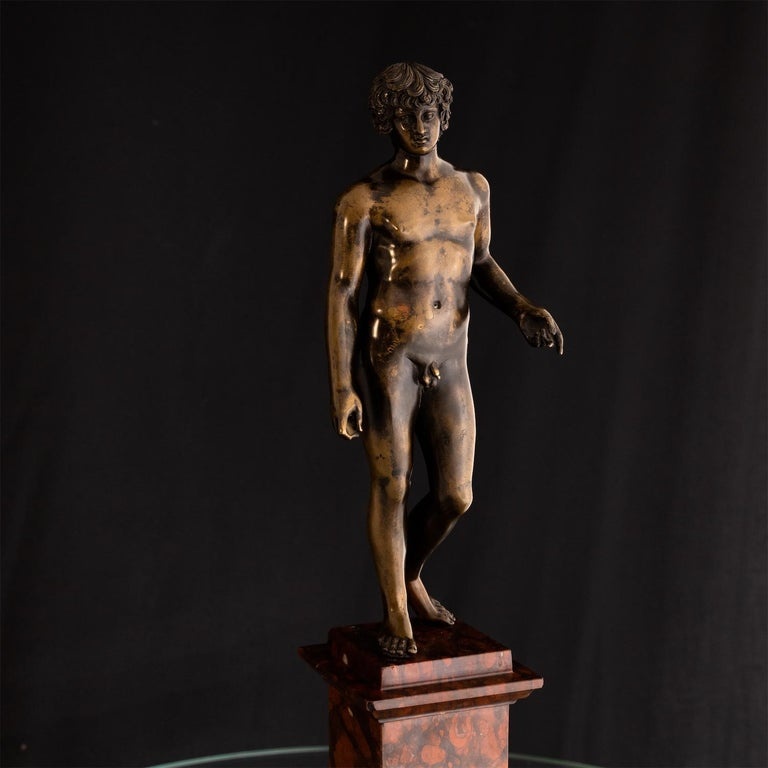 Bronze of Antinous Farnese, 19th Century For Sale 4