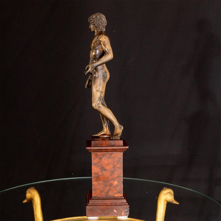 Bronze of Antinous Farnese, 19th Century For Sale 7