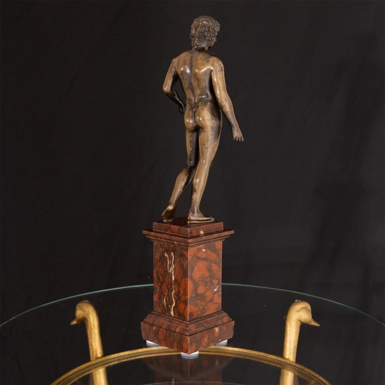 Bronze of Antinous Farnese, 19th Century For Sale 8