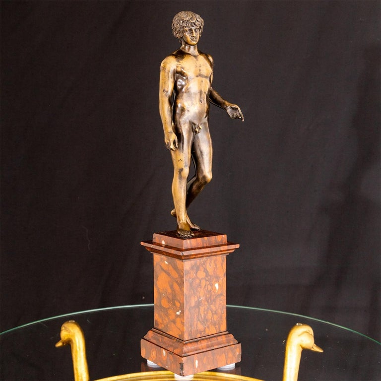 Bronze of Antinous Farnese, 19th Century For Sale 9