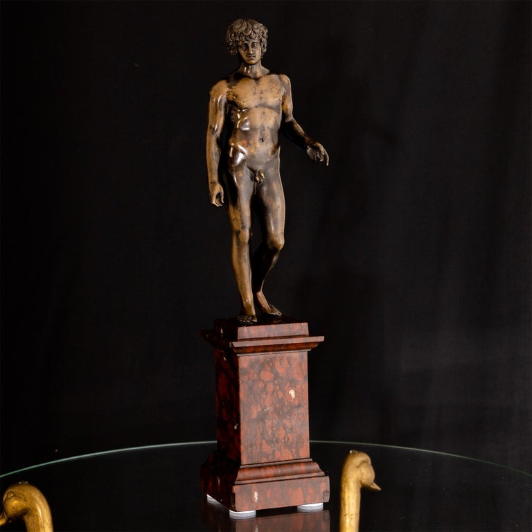Bronze of Antinous Farnese, 19th Century For Sale 11