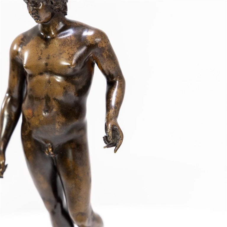 Early 19th Century Bronze of Antinous Farnese, 19th Century For Sale