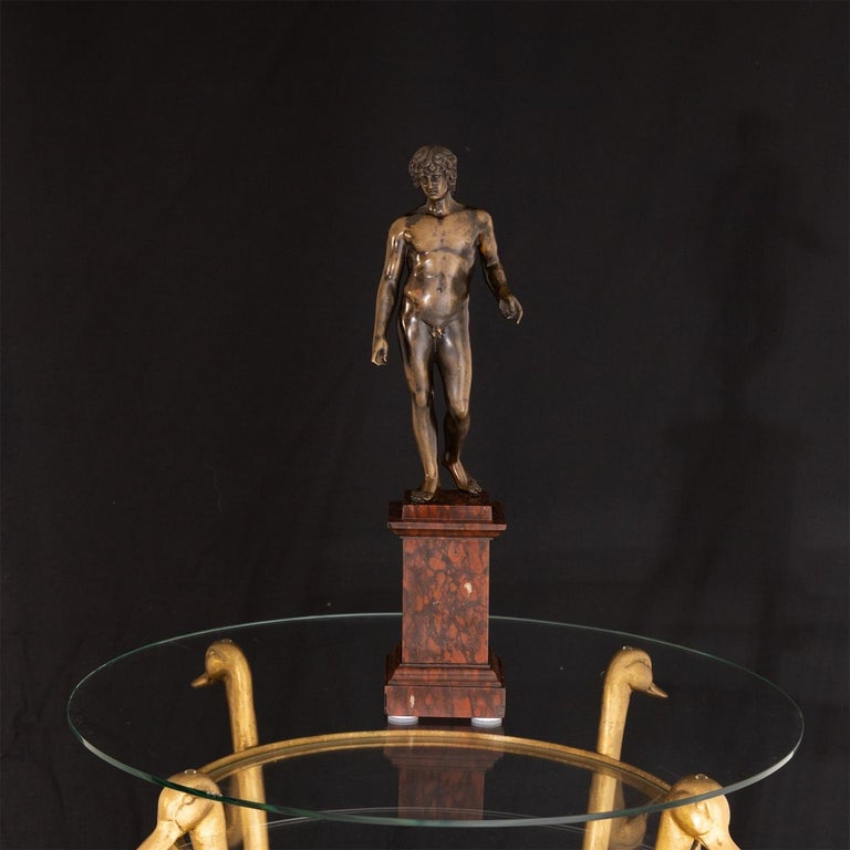 Bronze of Antinous Farnese, 19th Century For Sale 3