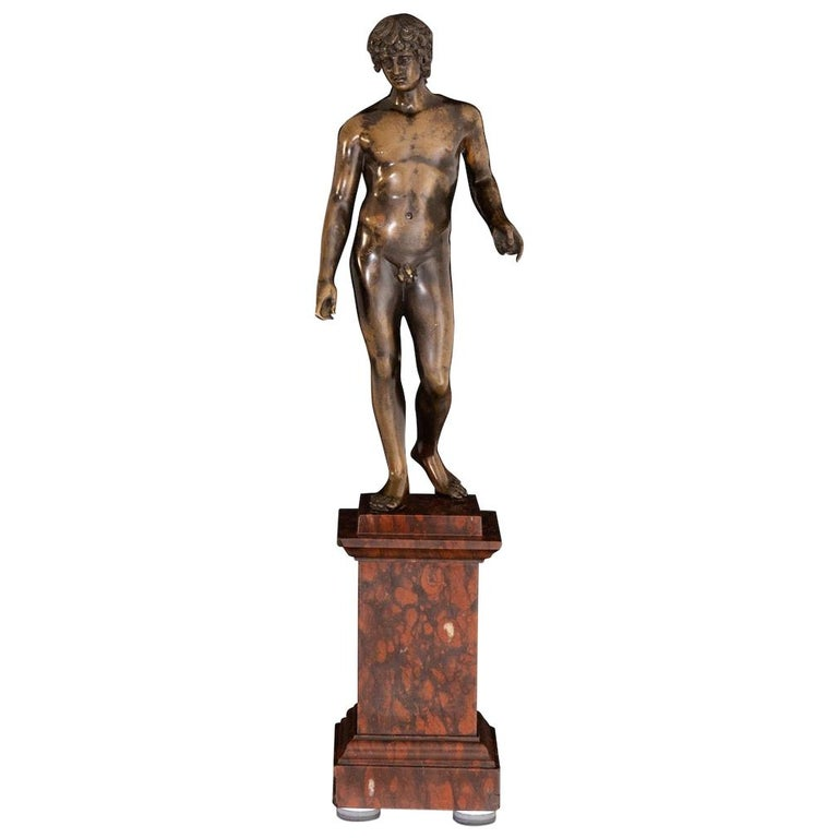 Bronze of Antinous Farnese, 19th Century For Sale