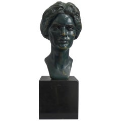Bronze of Constance Irene Morris Signed by Anna Coleman Watts Ladd