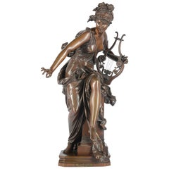 Bronze of Harmonie by Carrier Belleuse, 19th Century