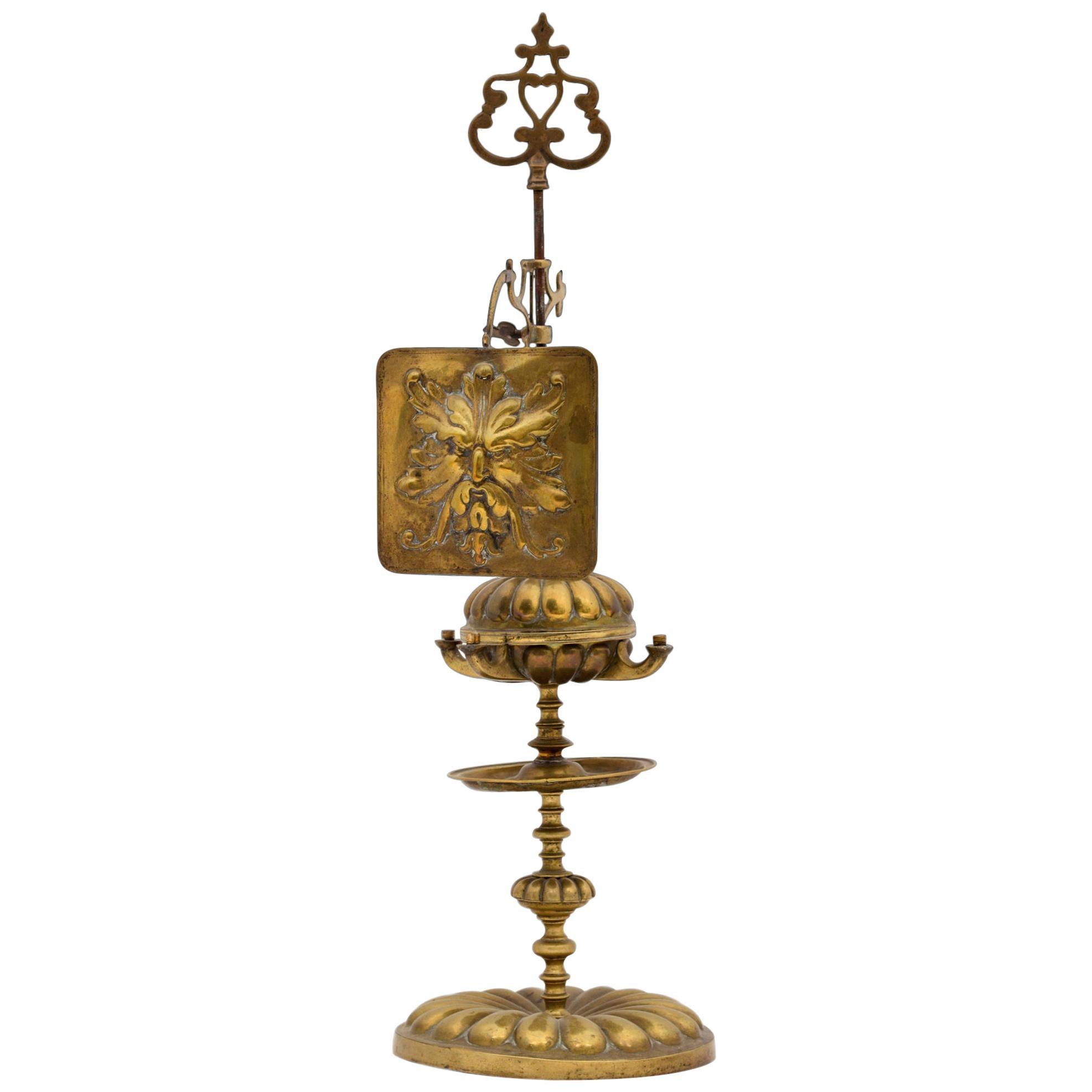 Bronze Oil Lamp, 18th Century