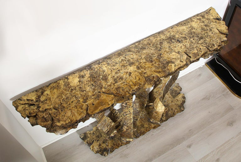 Bronze on Steel Console Table, by Silas Seandel In Excellent Condition For Sale In New York, NY