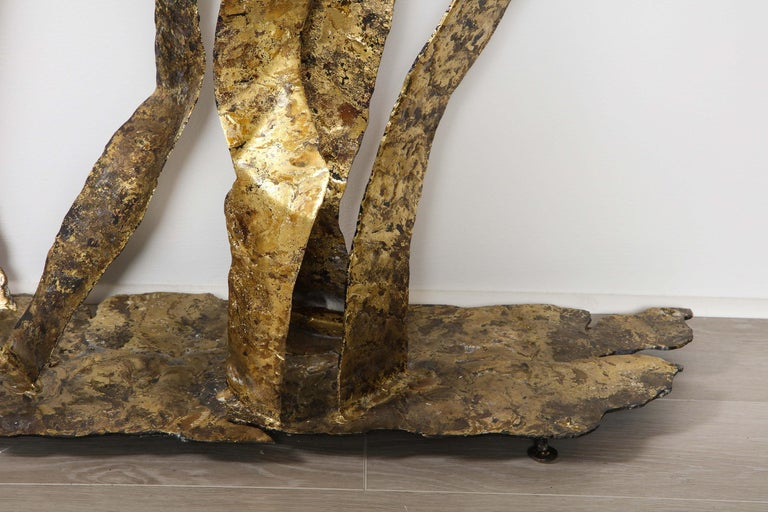 Bronze on Steel Console Table, by Silas Seandel For Sale 1