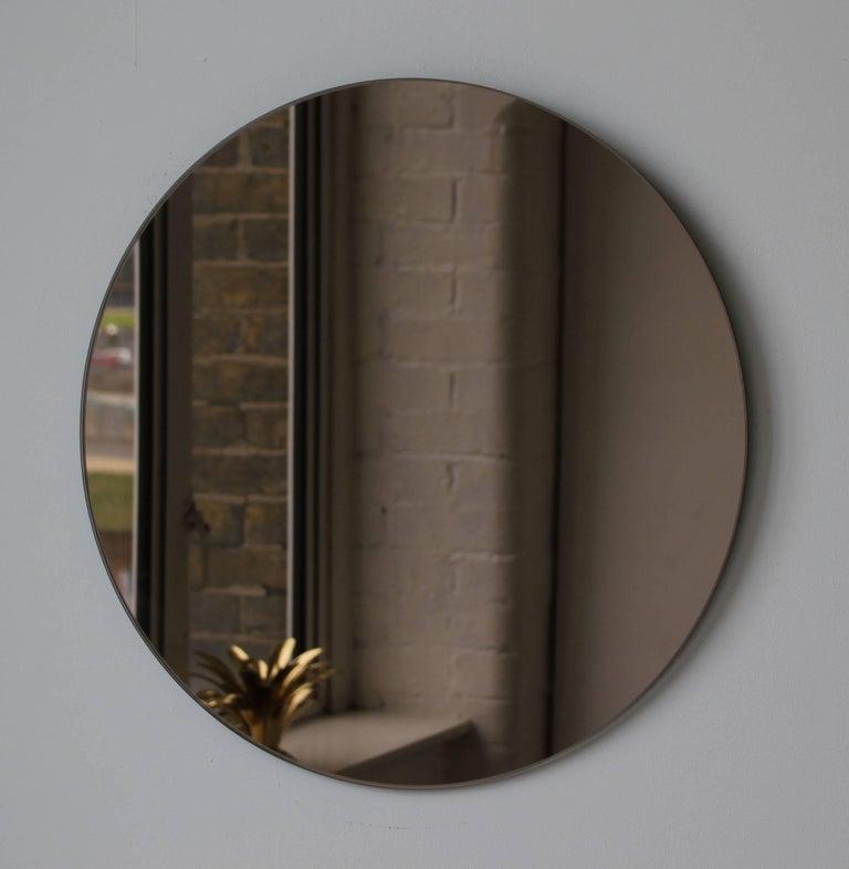 British Bronze Orbis Round Mirror, Frameless - Diam. 100cm / 39.4