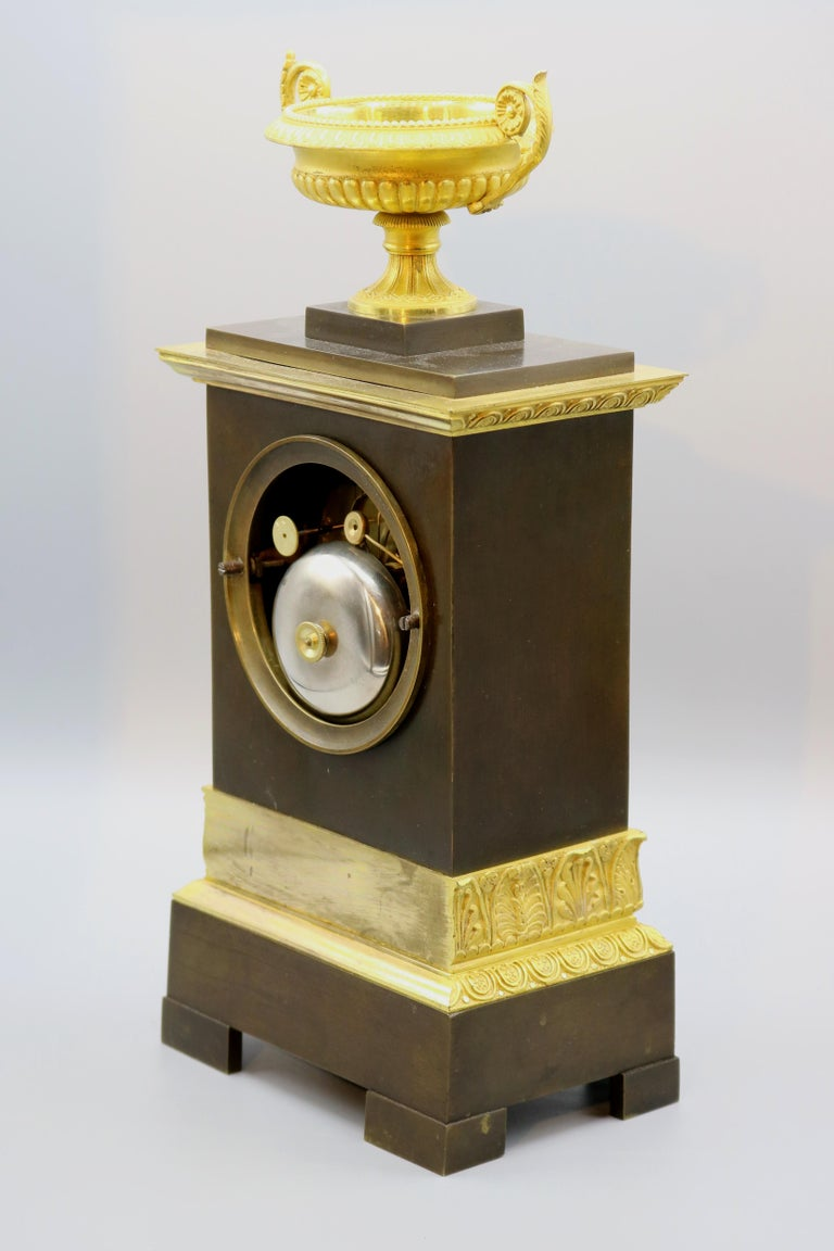 Bronze and Ormolu Silk Clock, 19th Century, French, Silk Suspension Striking In Good Condition For Sale In London, GB