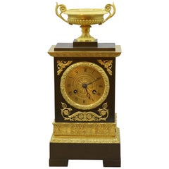 Bronze and Ormolu Silk Clock, 19th Century, French, Silk Suspension Striking