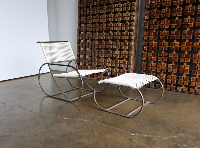 California Backyard Patio Furniture.Bronze Outdoor Lounge Chair And Ottoman By Kipp Stewart For Terra Of California