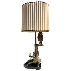 Bronze Owl Lamp by Marbro