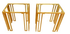 Bronze Pair Side Tables, Italy, Contemporary