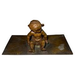 Bronze Paperweight w/Cherub, French, ca. 1900