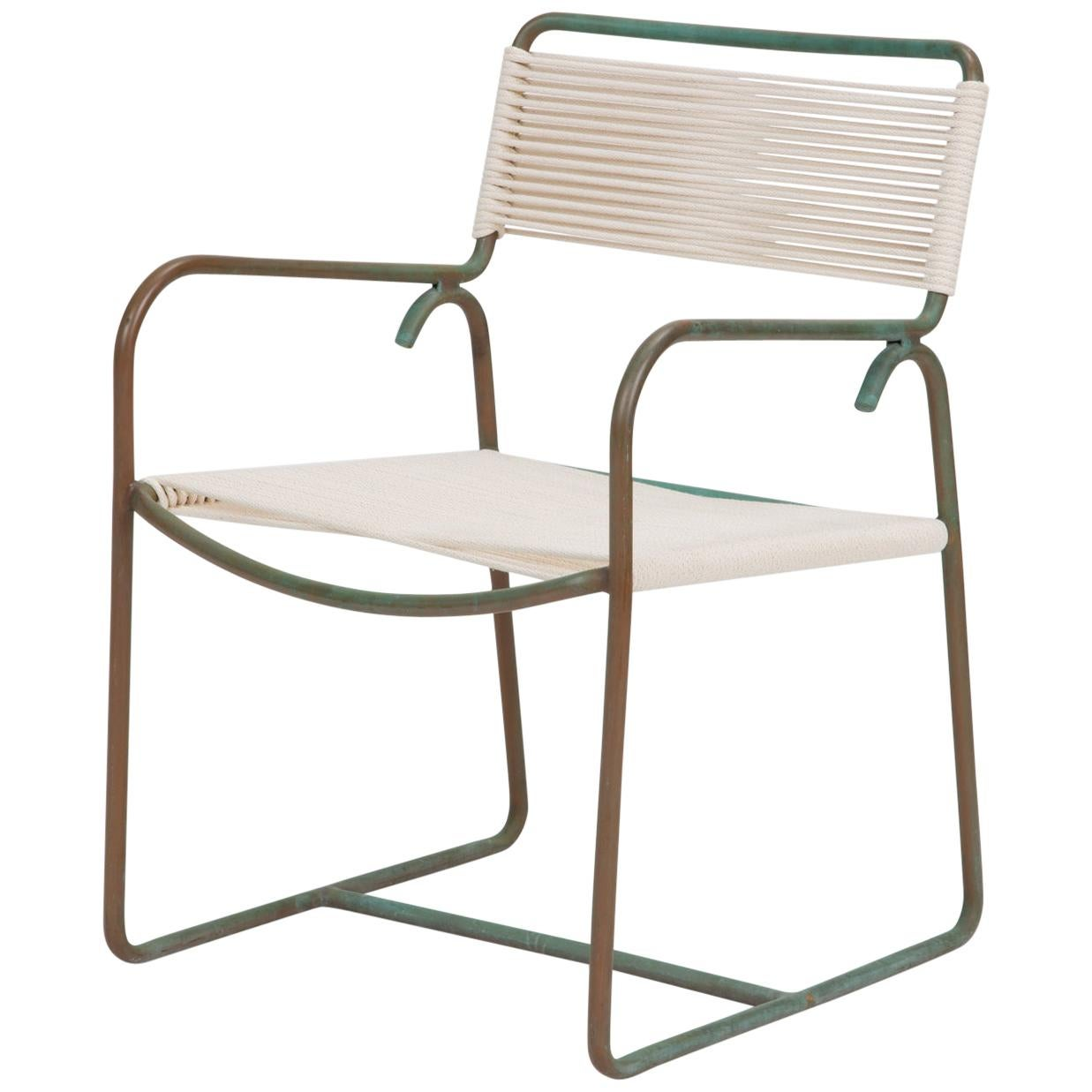 Walter Lamb for Brown Jordan Bronze Patio Dining Armchair