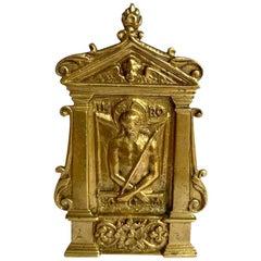 Bronze Pax or Pax Board with Ecce Homo, 16th Century