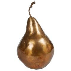 Bronze Pear Sculpture by Erik Peterson
