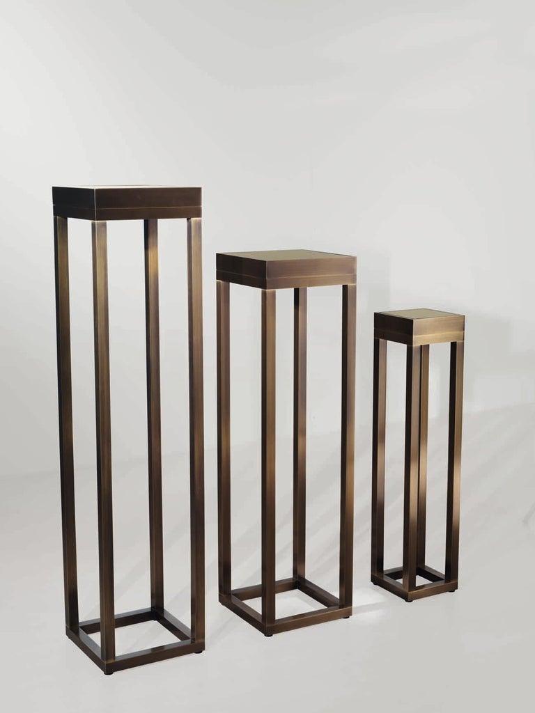 Bronzed Bronze Pedestal XVI For Sale