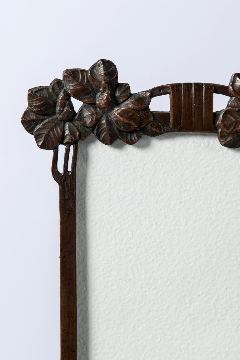 Austrian Bronze Picture Frame, Art Nouveau Period, circa 1900 For Sale