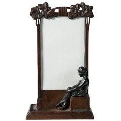 Bronze Picture Frame, Art Nouveau Period, circa 1900